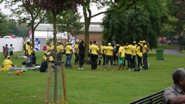 Jamaican dancers Newham Stratford London 2012