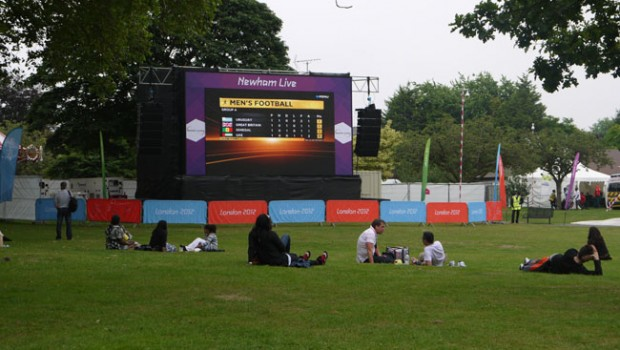 Big screen Olympics Newham Stratford London 2012