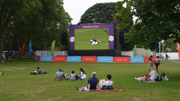 Big Screen Newham Stratford London 2012