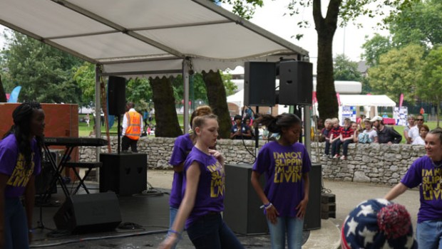 Streetdancers in Newham Stratford London 2012