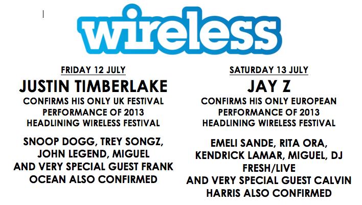 Wireless Festival 2013 Line Up