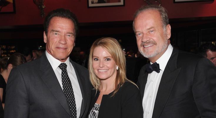 Arnold Schwarzenegger, Heather Milligan, Kelsey Grammer