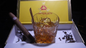 Old Forester Old Fashioned Montecristo Cigar